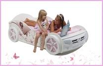 Кровать для девочки машинка и карета