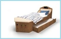 Кровать-корабль с двумя спальными местами