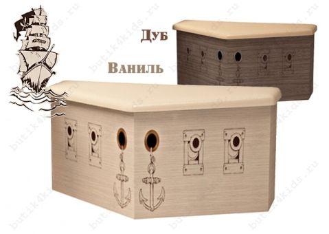 Нос для кровати Pirat (ящик-сундук для игрушек)
