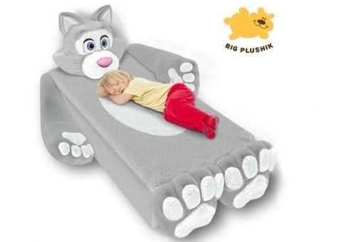 Кровать-игрушка Котенок серый