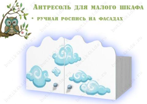 Антресоль с росписью Совы для малого шкафа