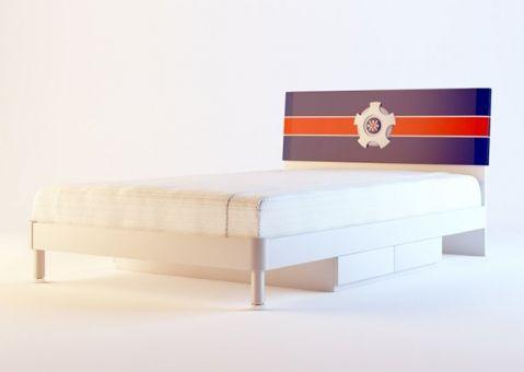 Детская кровать с ящиками Ливио (200x90)