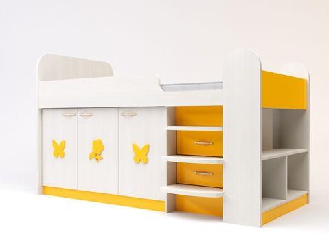 Кровать чердак Аллегро для девочки