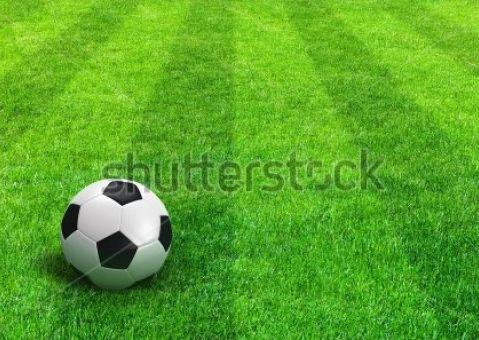 Фотообои Газон с футбольным мячем