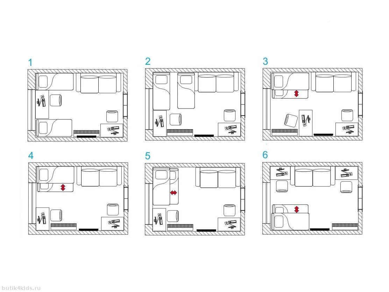 Как расставить мебель в 10 кв.м
