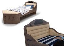 Кровать корабль Пират Адвеста с низким изножьем