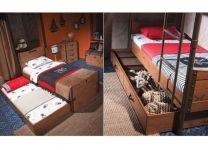 Детская двухъярусная кровать Black Pirate 20.13.1401.00