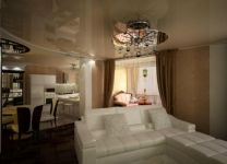 Дизайн: Гостиная-кухня с кальянной зоной