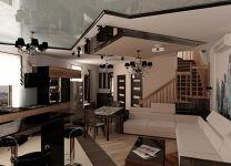 Дизайн: Гостиная с барной стойкой
