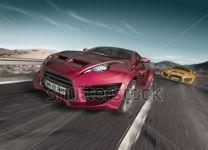 Фотообои Гонки: две машины