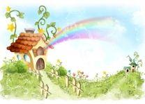 Фотообои детские Радужный домик