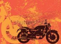Фотообои-коллаж Мотоцикл