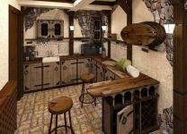 Дизайн: Летняя кухня Винный погребок