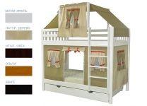 Детская игровая двухъярусная кровать Скворушка-5
