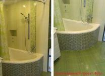 Ремонт ванной цвета Лайм
