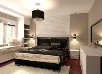 Дизайн: Спальня с подоконником-диванчиком