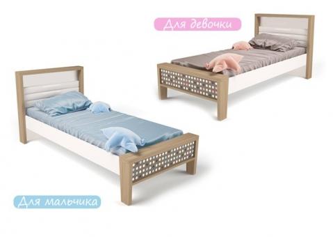Детская кровать MIX ABC-King №1 розовая и голубая