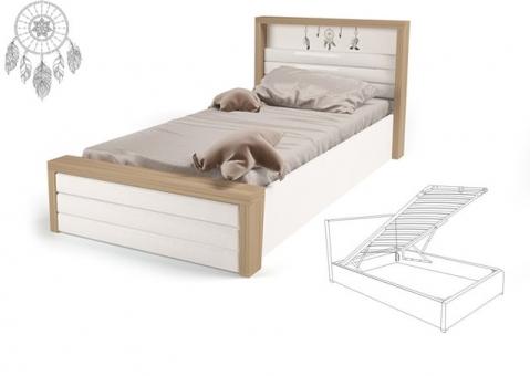Кровать MIX Ловец снов ABC-King №6 с подъемным механизмом и мягким изножьем