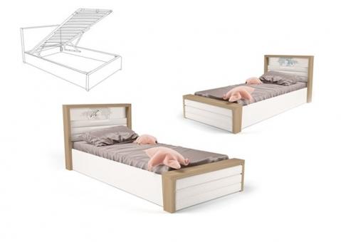 Кровать MIX OCEAN ABC-King №6 с подъемным механизмом и мягким изножьем
