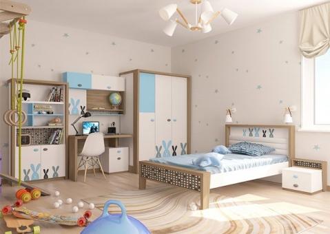 Детская мебель MIX BUNNY ABC-King blue для мальчиков с зайцами