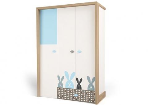 Шкаф трехдверный MIX BUNNY ABC-King детский