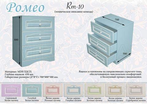 Комод Ромео RM-10