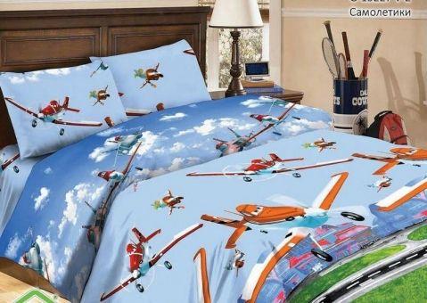 Комплект постельного белья Самолётики
