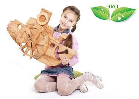 Часы катерок Буковка из дерева