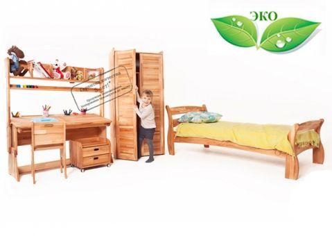 Кровать со спинкой Буковка из дерева 190x80
