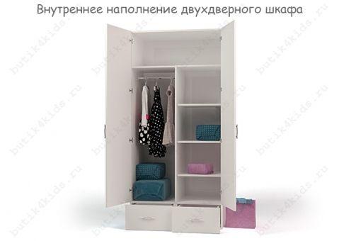 Двухдверный шкаф Pilot с зеркалом