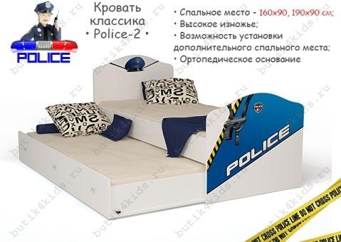 Кровать Police 2 классика с высоким изножьем