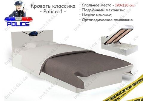 Кровать классика Police с Подъемным механизмом