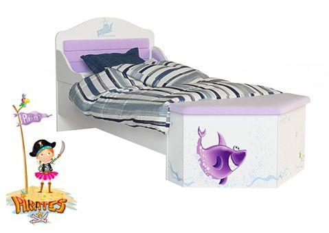 Нос для кровати Пиратка Адвеста (ящик-сундук для игрушек)