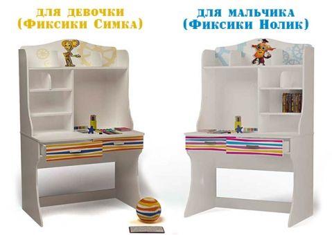 Стол с надстройкой Фиксики Симка и Нолик
