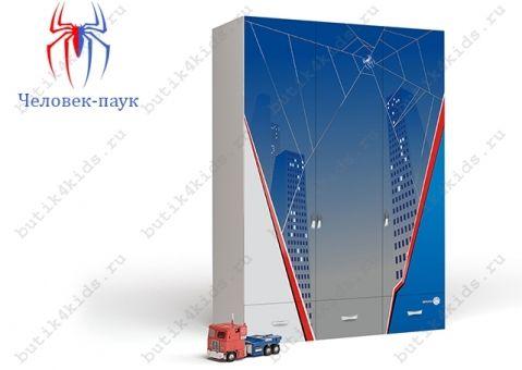 Трёхдверный шкаф Человек-паук (Spider Man)