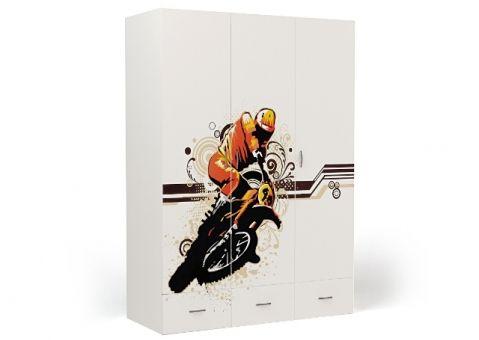 Трёхдверный шкаф Moto Еxtreme
