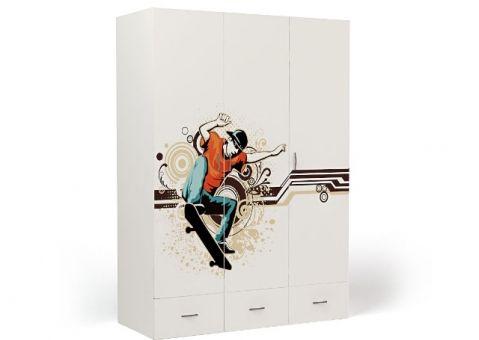 Трёхдверный шкаф Skate Еxtreme