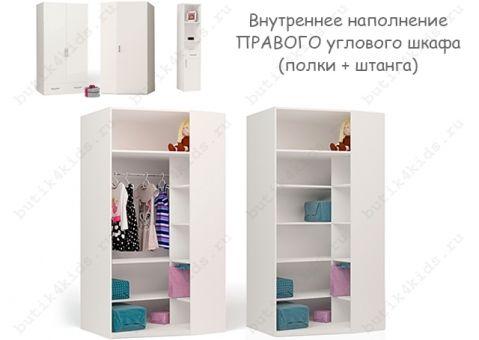 Угловой шкаф с зеркалом Фея Адвеста