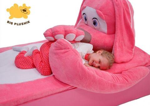 Кровать-игрушка Зайчик розовый