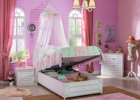 Белая кровать с подъемным механизмом Selena Cilek 20.55.1705.00