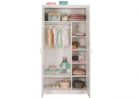 Белый двухдверный шкаф Selena Cilek Арт.1001