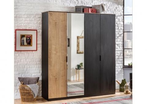 Четырехдверный шкаф Black Cilek 20.58.1005.00