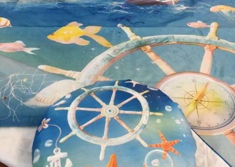 Cтёганое покрывало Путешествие по морю