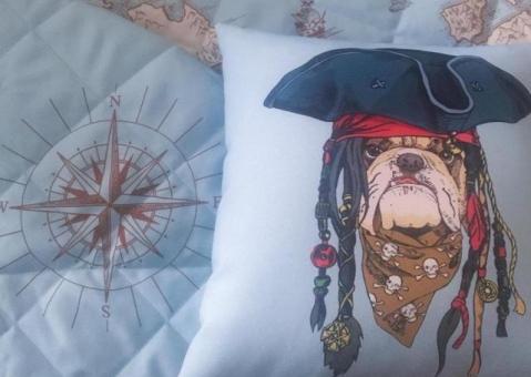 Декоративные подушки Зверята-пираты для мальчиков