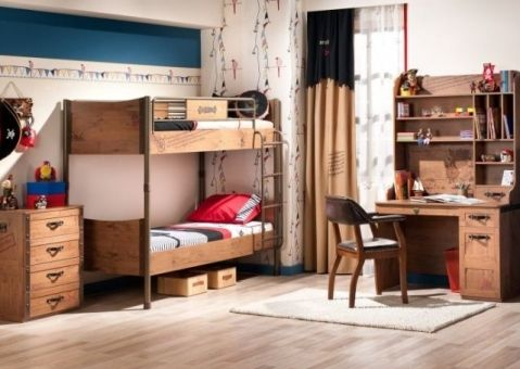Детская двухъярусная кровать Black Pirate Cilek 20.13.1401.00