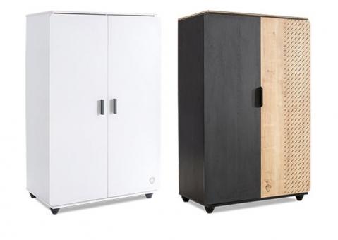 Двухдверный шкаф Black и White Cilek арт. 1004