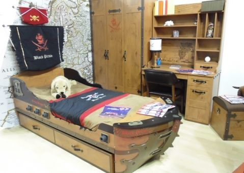 Кровать Корабль Black Pirate 20.13.1308.00
