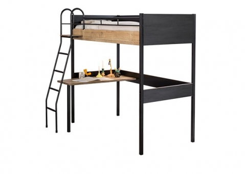 Кровать-чердак со столом Black и White Cilek Арт.1402