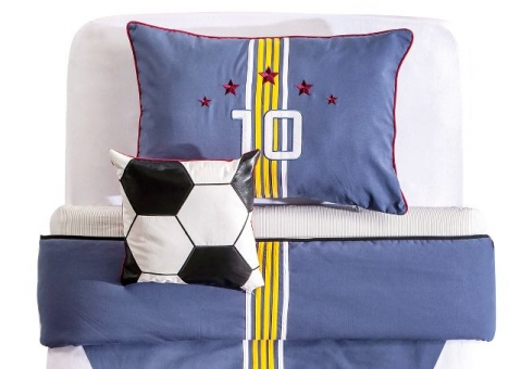 НАБОР Football Cilek 21.04.4405.00: покрывало и подушки