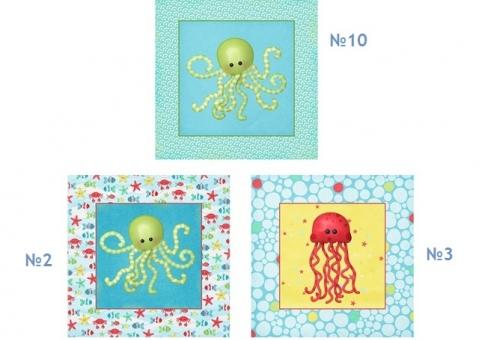 Подушки Морские обитатели для детей